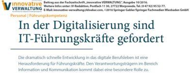 In der Digitalisierung sind IT-Führungskräfte gefragt